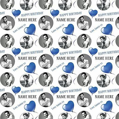 Jamie Dornan Personalised Birthday Gift Wrap With 2 Tags - ADD A NAME!
