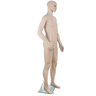 Full Body Male Mannequin Cloth Display Tailor Dressmaker Skin Tone 186cm