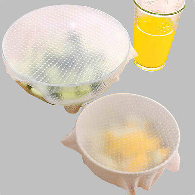 Clear Silicone Suction Lid bowl pan Cooking Pot Lid Stretch Lids Safety & Fresh