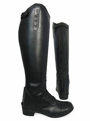 Equestrian Ladies EquiLeather Show Jumping Dressage Competiton Long Riding Boots