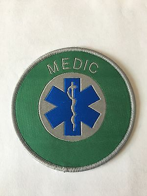 MEDIC Star Of Life Cloth Patch Badge Heat Seal Back for Ambulance Paramedic EMT