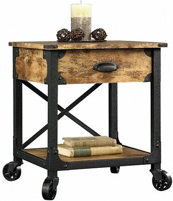 Better Homes And Gardens Rustic Country Side Table Antiqued Black Pine New