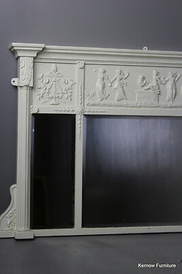 Victorian White Painted Overmantle Wall Mirror