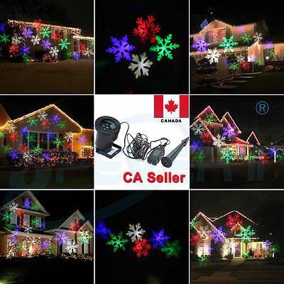 CA Outdoor Snowflake Landscape RGB LED Laser Projector Light Home Garden Lamp