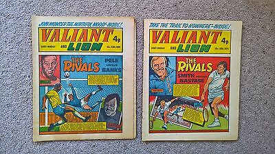 2 x Valiant and Lion comics - Dated 15/06/1974 & 29/06/1974