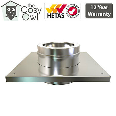 "6"" (150mm) Stainless Steel Convesa Twin Wall Insulated Flue Pipe Console Plate"