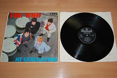 THE WHO My Generation UK LP NICE 1965 BRUNSWICK MONO 1ST PRESS EXCELLENT AUDIO