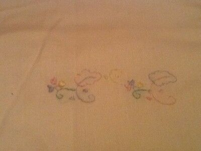 Vintage (1990) Pale Yellow Baby Pillow Case