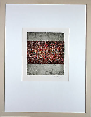 "Mark Tobey Aquatintaradierung ""Red's Return"" handsigniert und nummeriert"