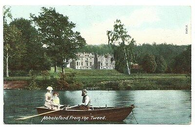 Vintage Postcard. Abbotsford From The Tweed. Used 1909. Ref:74415