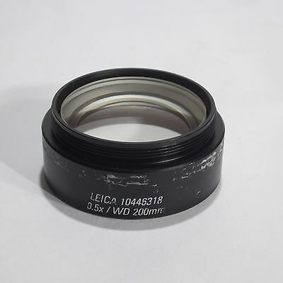Leica 0.5X Wd 200Mm Objective Lens For S4E And S6 Stereo Microscope 10446318