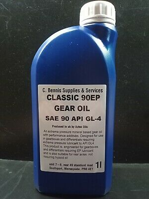 Castrol Classic Oils EP90 Mineral Based Extreme Pressure Gear Oil 1 Litre  EP 90