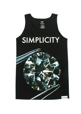 2010461f143 Diamond Supply Co. SIMPLICITY II Black Silver Teal White Cotton Men s Tank  Top