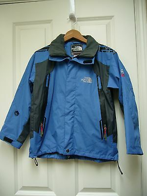 The North Face Summit Series Gore Tex XCR Youth Hooded Jacket Navy Sz Large EUC