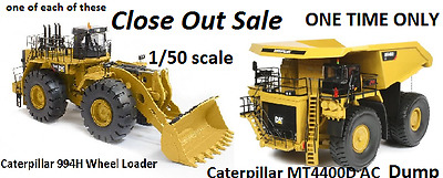 CLOSE OUT SALE  Cat 994H & Cat Caterpillar MT4400D Mining Dump LOT OF 2