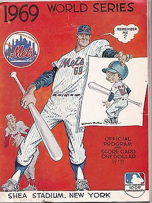 1969 New York Mets World Series Program - Orioles @ Mets - Shea Stadium
