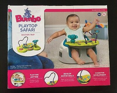 Bumbo Seat Playtop Safari Activity Center New Suction Tray