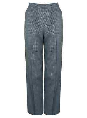 Ex M&s Ladies Trouser Flat Front Large Long Womens Marks & Spencer New Check