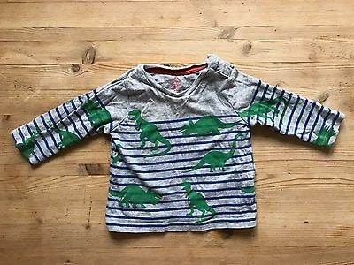 Baby Boden Dinosaurs Stripes Baby Boy Long Sleeve T Shirt 9-12 months