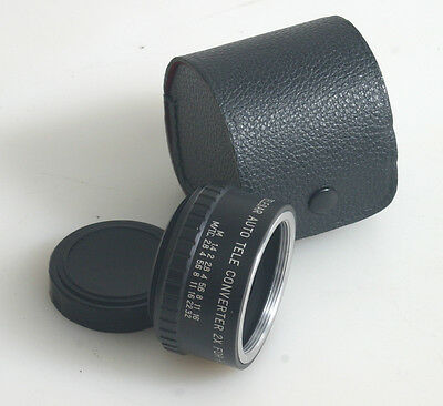 Pentax Teleconverter 2X With Case And Rear Lens Cap
