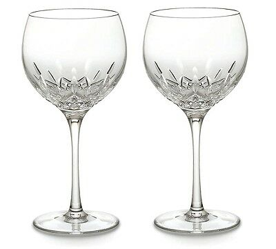 Pair of Waterford Crystal Lismore Essence Balloon Wine Glasses *New in Box*