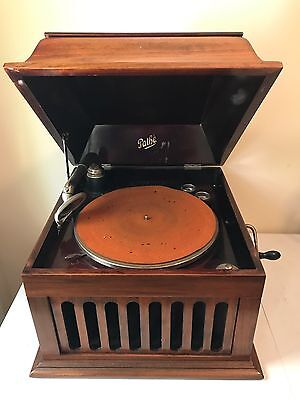 Antique Pathe Freres Tabletop Phonograph Model 3 III Music Machine