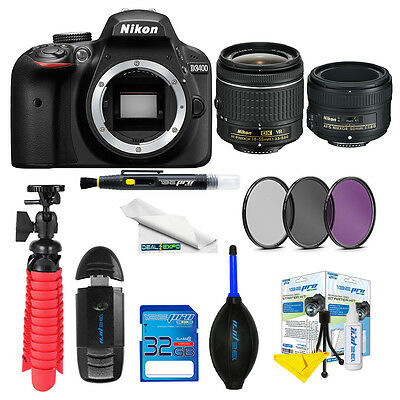 Nikon D3400 DSLR Camera with 18-55mm and 50mm1.8G Lenses + Expo-Deluxe Kit