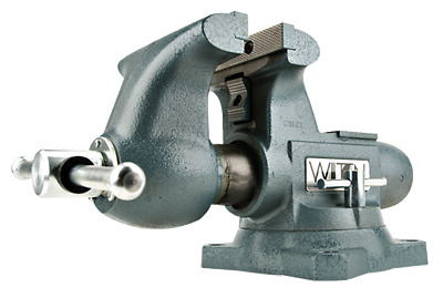 WILTON #1765 6-1/2 in. Tradesman Round Channel Vise with Swivel Base