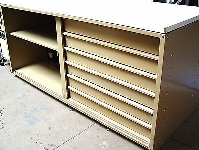 Lab bench, a 6-drawer laboratory bench (72x30x34) with white top