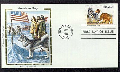 Alaskan Malamute First Day Cover dog stamp