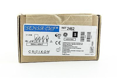 GE Critikon 2462 SENSA-CUF Small Adult Reusable NiBP Cuffs 17-25CM Box of 5
