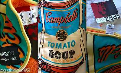 ANDY WARHOL x Uniqlo MoMA SPRZ Campbell's Soup Can Fleece Blanket NWT SOLD OUT!