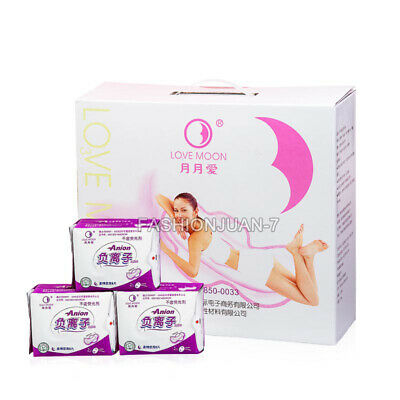 Anion Night Use Sanitary Napkins 2Pack=16PCS No Fluorescent Agent Pads Night Use