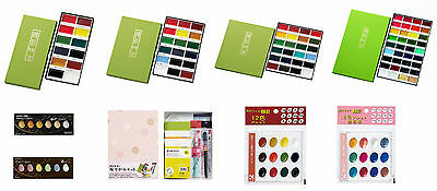 Kuretake Gansai Tambi Water Colour Watercolour Paint Fude Brush Pen Set NEW