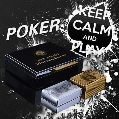 WR 2 Deck of $100 Dollar 24k Gold/Silver Plated Playing Cards /w Box Certificate