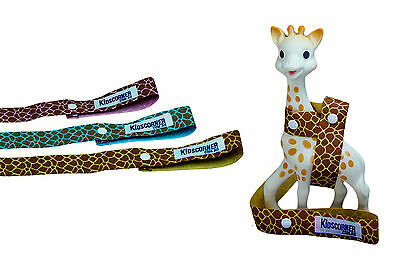 SOPHIE GIRAFFE TOY STRAP, SOPHIE SAVER - 3 colours to choose