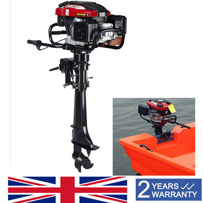 Outboard Motor 3.5HP 2-Stroke Fishing Boat Engine CDI Water Cooling Short Shaft