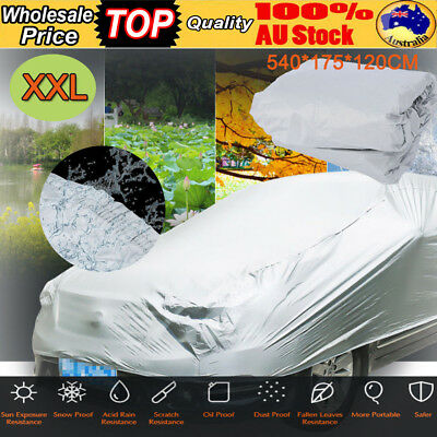 AU Universal Full Car Cover Anti UV Dust Scratch Water Resistant Protection XXL