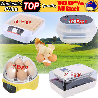 7/12/24/56 Eggs Incubator Automatic Digital LED Turner  Poultry Chicken Duck HOT