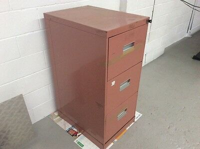 3 draw lockable filing cabinet with key