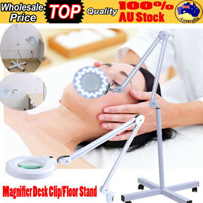5/8X Magnifying 5 Inch magnifier Glass Lamp Light Stand Skincare Salon Spa AU