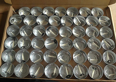 47 Aluminium Foil Tealight Cups plus 50 Pre waxed wicks.Tealight Candle Moulds.