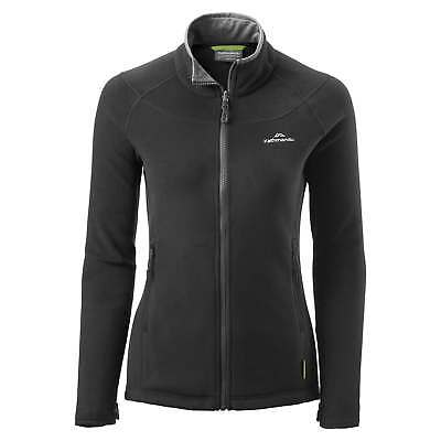 Kathmandu Trailhead Womens High Collar Full Zip Warm Outdoor Fleece Jacket Black