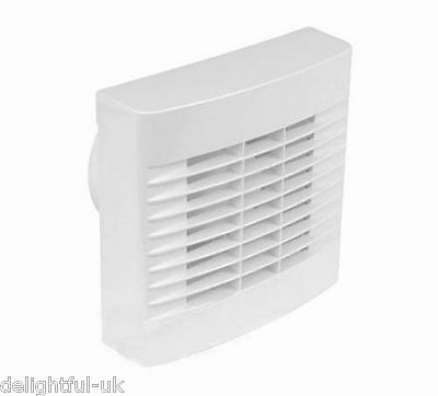 """Airvent White Kitchen Extractor Fan with Pullcord 6"""" 150mm - Wall or Window"""