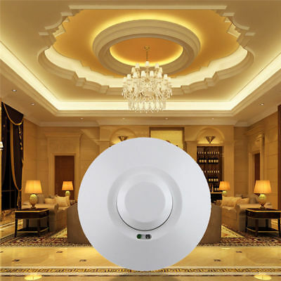 360° Microwave Radar Sensor Pir Motion Detector Door Light Auto Switch HS802