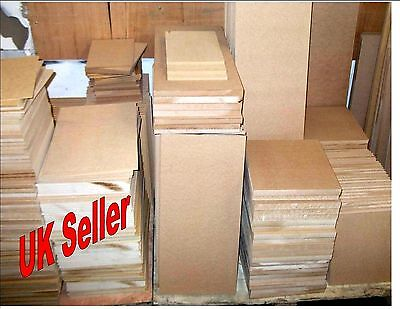 3 x 4mm Thick MDF. A4 297mm x 210mm Medium Density Fibreboard. Laser safe Crafts