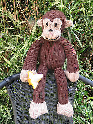 Cute & Crazy Soft Cuddly Handmade Monkey.. With A Banana - For Greyhound Rescue
