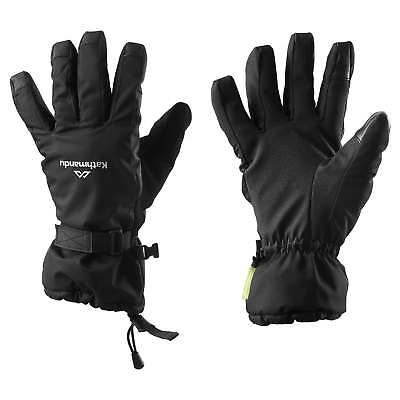 Kathmandu Mens Womens Classic Waterproof Breathable Winter Snow Gloves v2 Black
