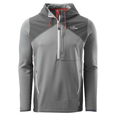 Kathmandu Escarpar Mens Mid Layer Hooded Slim Fit Hiking Fleece Pullover Grey
