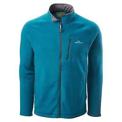 Kathmandu Trailhead Mens High Collar Full Zip Warm Outdoor Fleece Jacket Blue